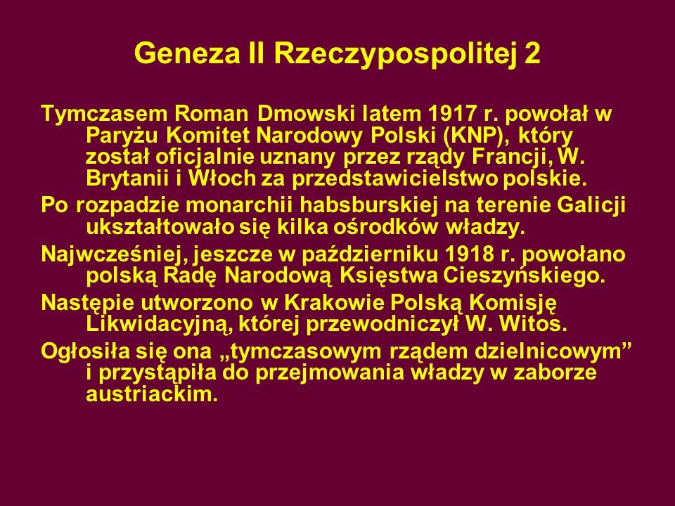 Geneza II Rzeczypospolitej 2