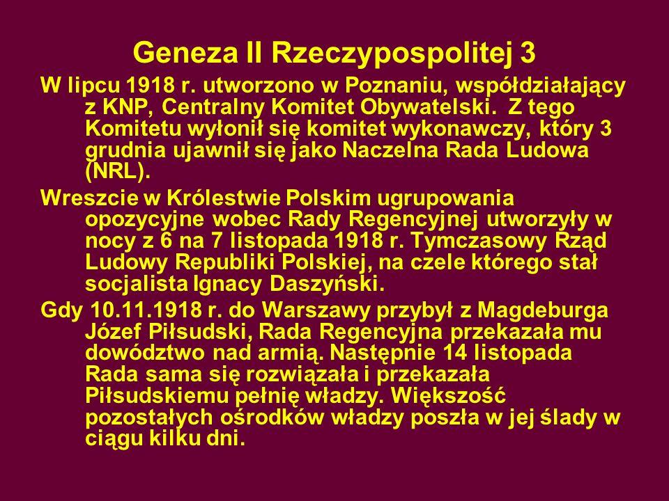 Geneza II Rzeczypospolitej 3
