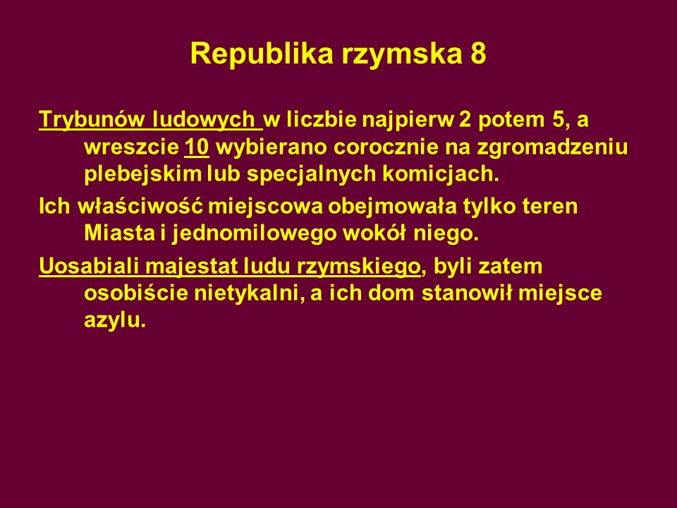 Republika rzymska 8