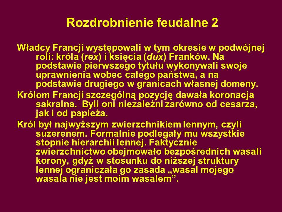 Rozdrobnienie feudalne 2