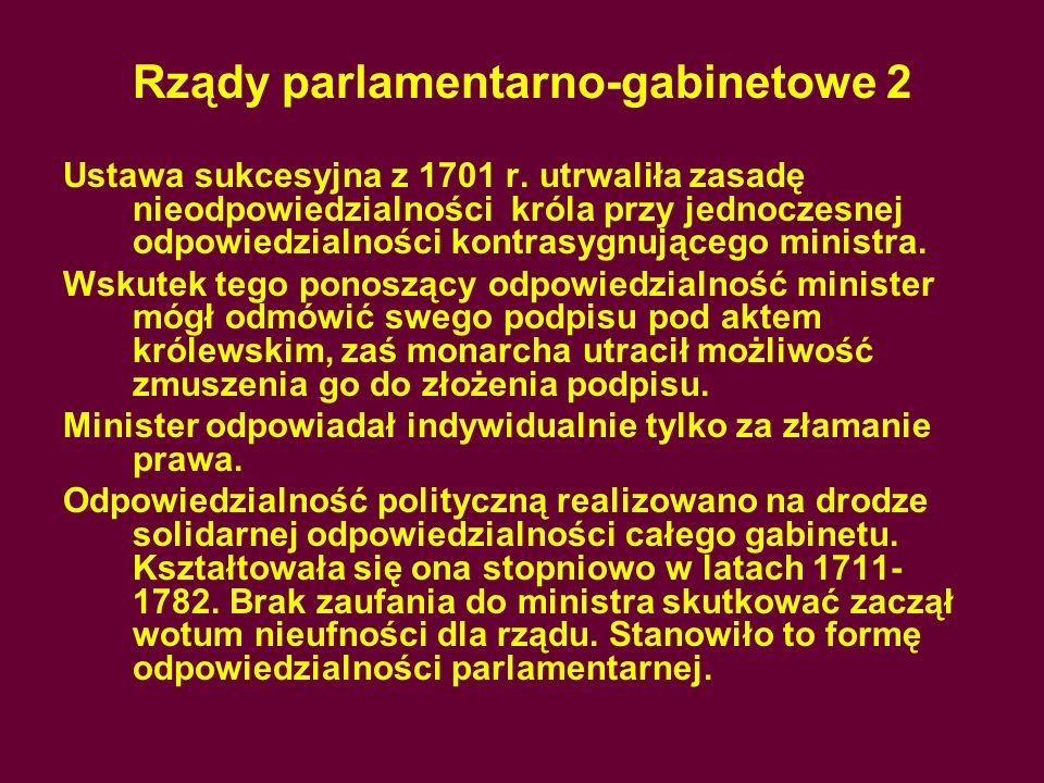 Rządy parlamentarno-gabinetowe 2