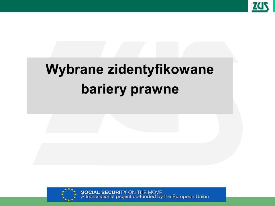 Wybrane zidentyfikowane bariery prawne