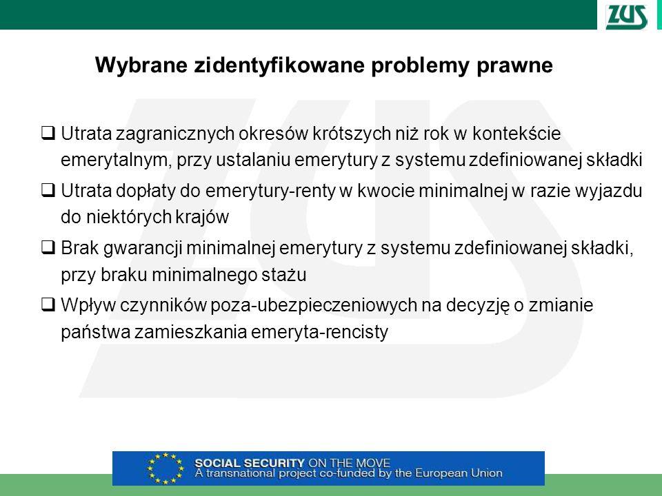 Wybrane zidentyfikowane problemy prawne