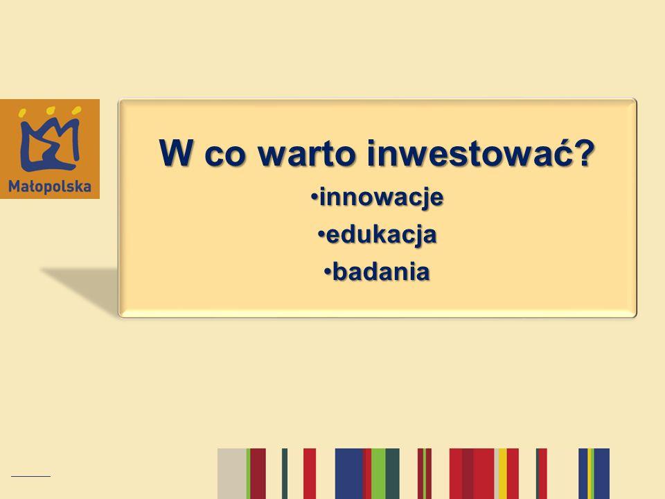 W co warto inwestować innowacje edukacja badania