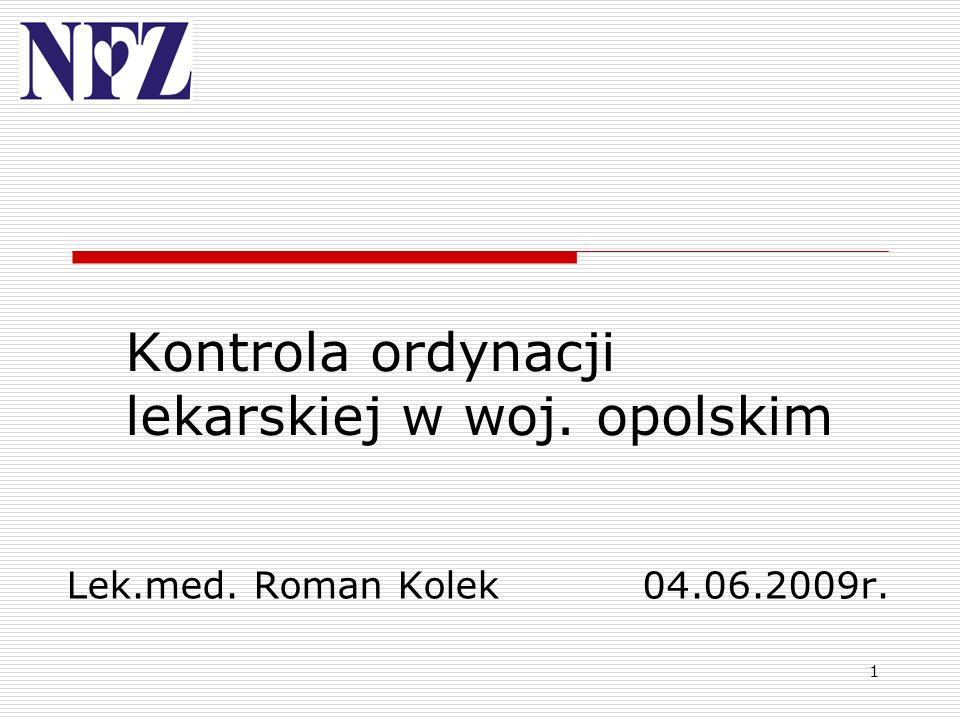 Kontrola ordynacji lekarskiej w woj. opolskim