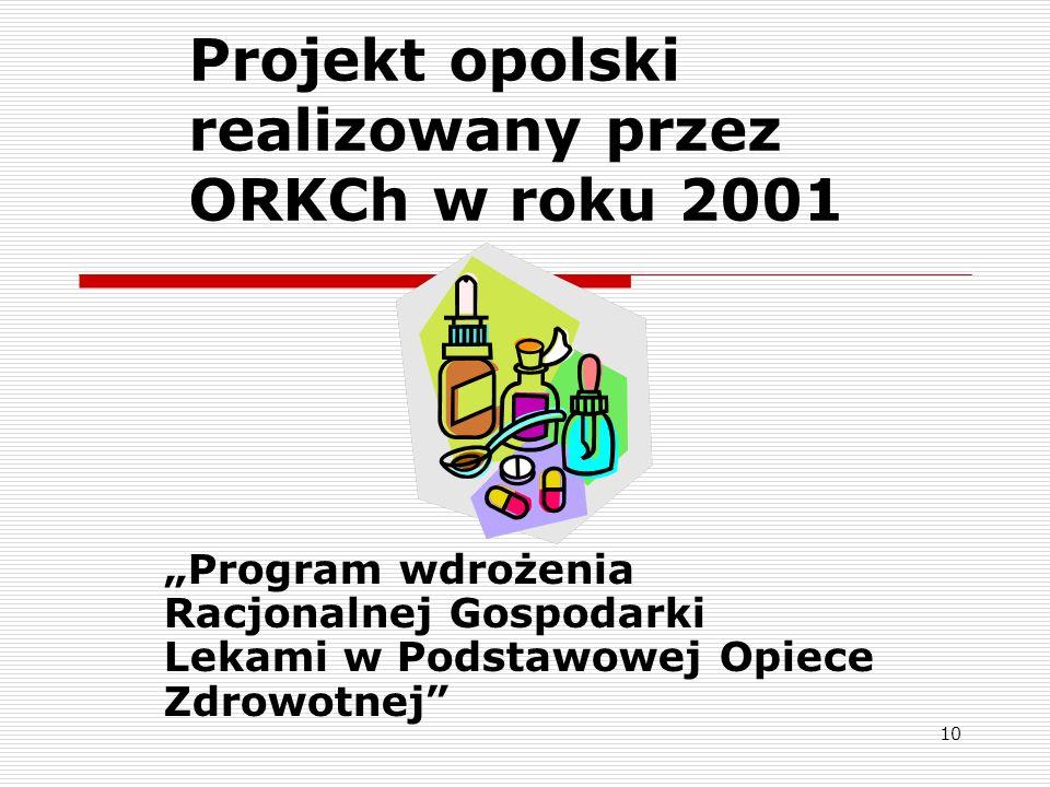 Projekt opolski realizowany przez ORKCh w roku 2001