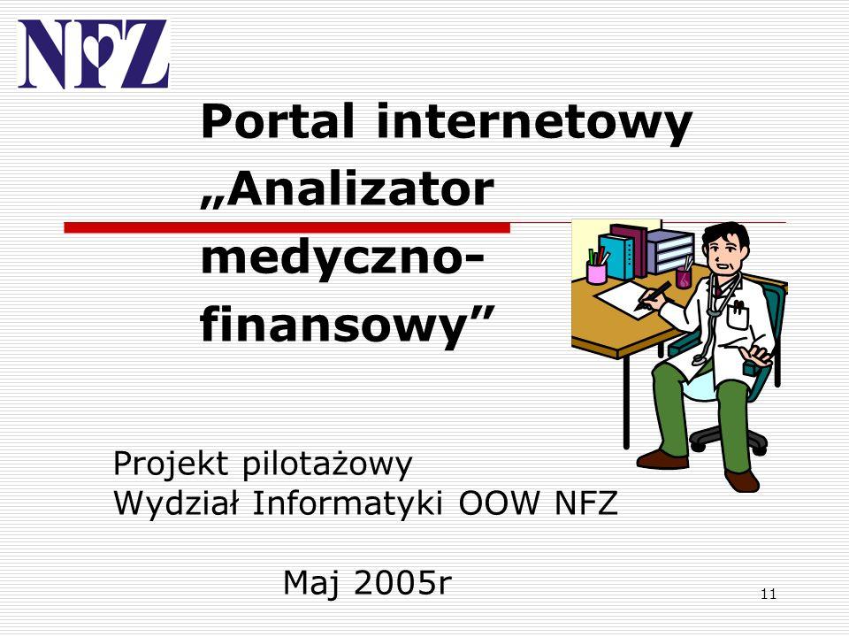 """Portal internetowy """"Analizator medyczno-finansowy"""