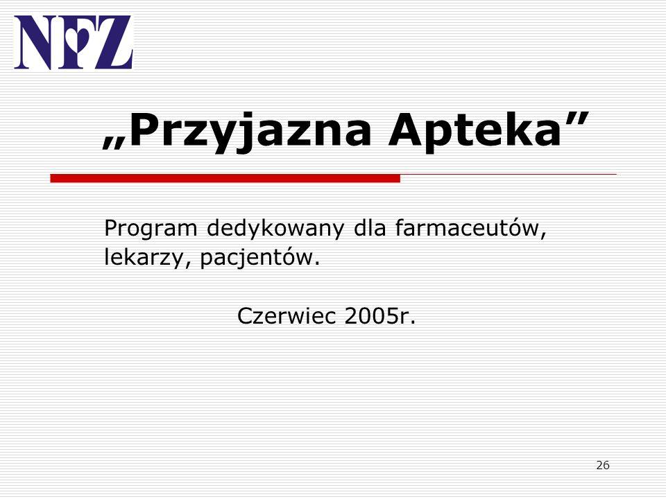 """""""Przyjazna Apteka Program dedykowany dla farmaceutów,"""