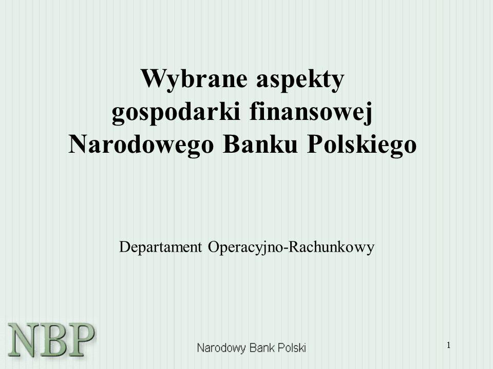 Wybrane aspekty gospodarki finansowej Narodowego Banku Polskiego