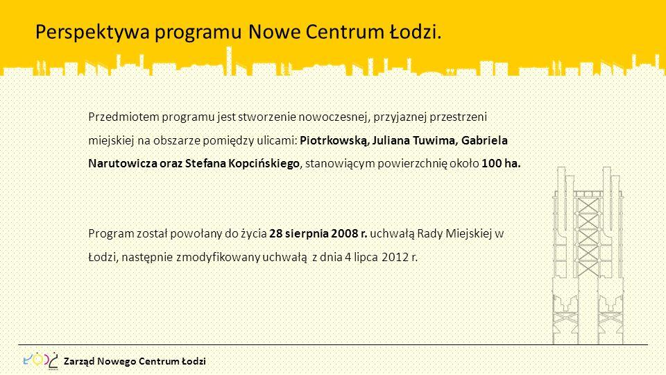 Perspektywa programu Nowe Centrum Łodzi.