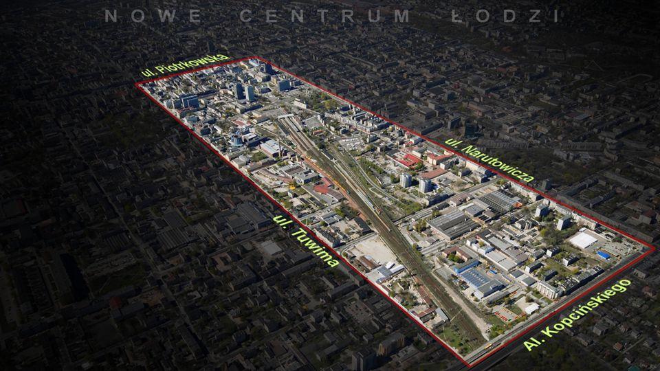 Przedmiotem programu jest stworzenie nowej przestrzeni miejskiej na obszarze pomiędzy ulicami: Piotrkowską, Juliana Tuwima, Gabriela Narutowicza oraz Stefana Kopcińskiego, stanowiącym powierzchnię około 100 ha.
