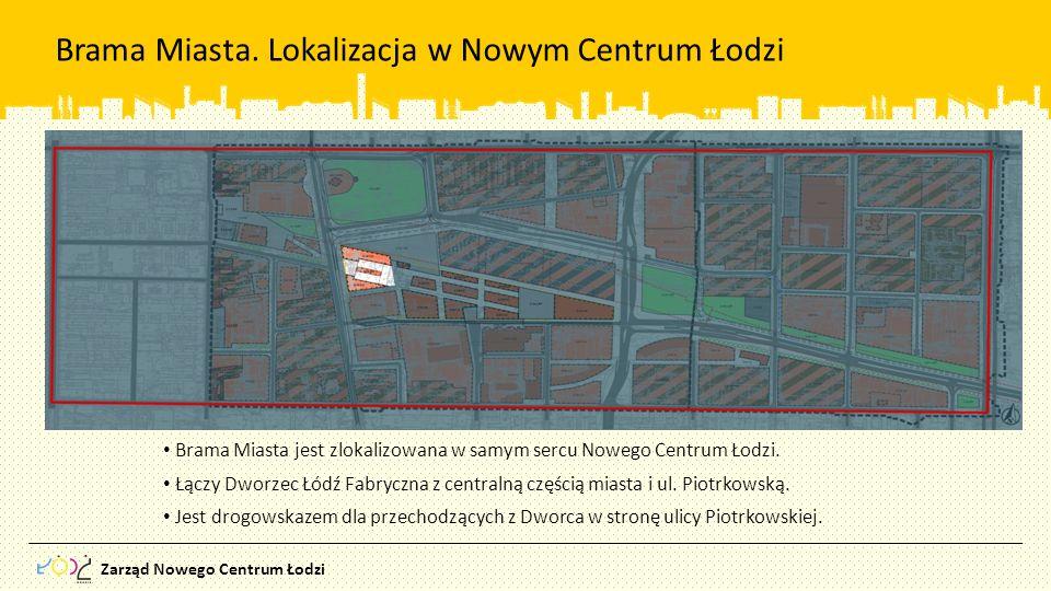 Brama Miasta. Lokalizacja w Nowym Centrum Łodzi