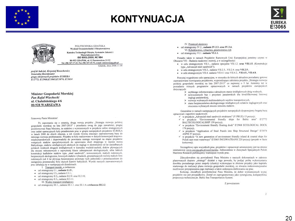 KONTYNUACJA E!3065