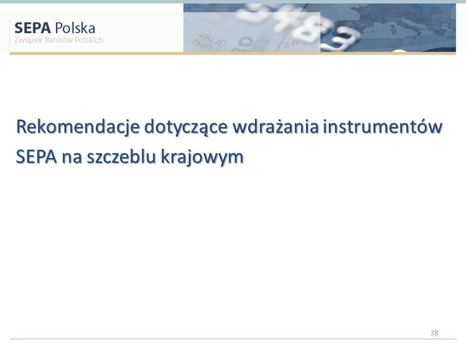 Rekomendacje dotyczące wdrażania instrumentów SEPA na szczeblu krajowym