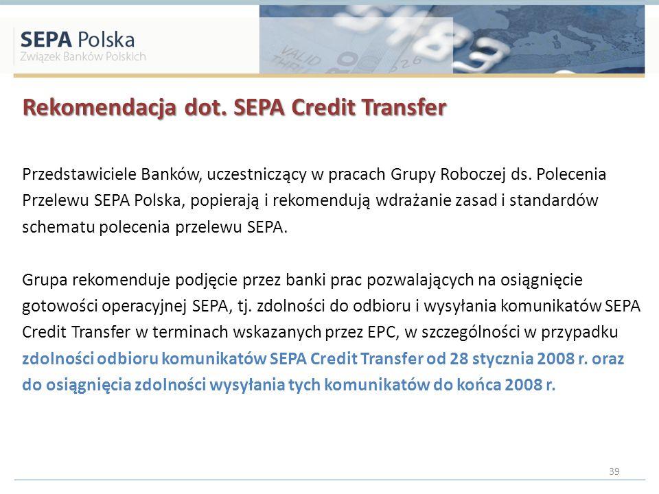 Rekomendacja dot. SEPA Credit Transfer