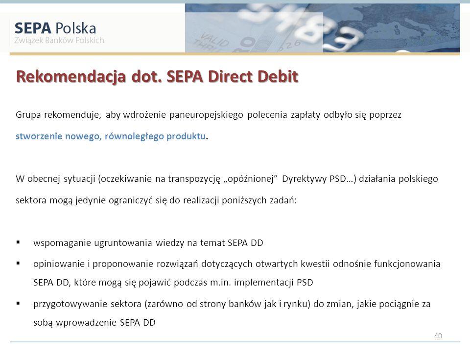 Rekomendacja dot. SEPA Direct Debit