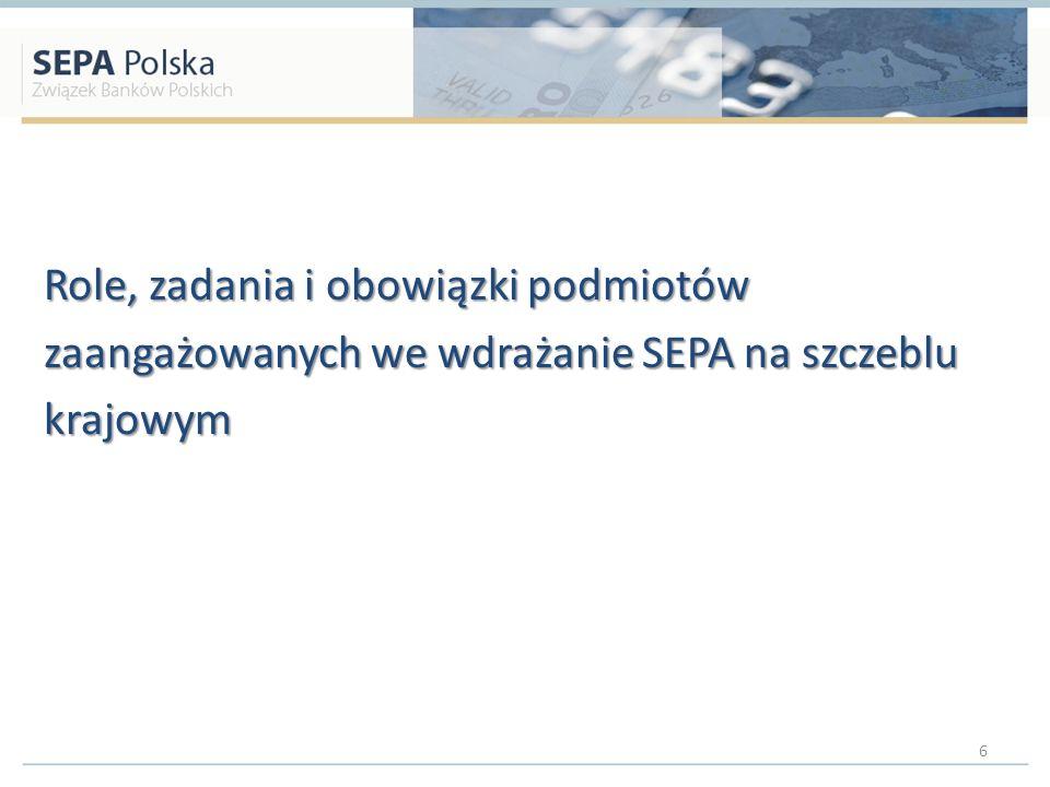 Role, zadania i obowiązki podmiotów zaangażowanych we wdrażanie SEPA na szczeblu krajowym