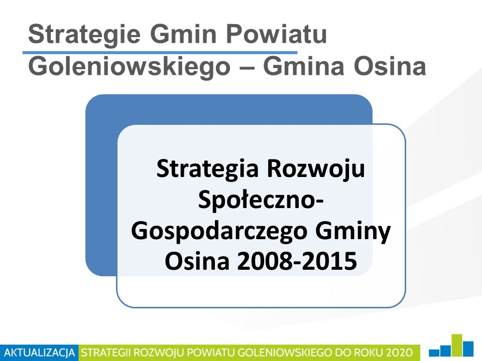Strategie Gmin Powiatu Goleniowskiego – Gmina Osina