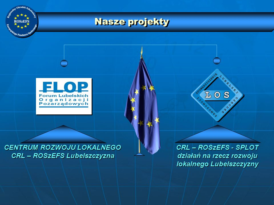 Nasze projekty CENTRUM ROZWOJU LOKALNEGO CRL – ROSzEFS Lubelszczyzna