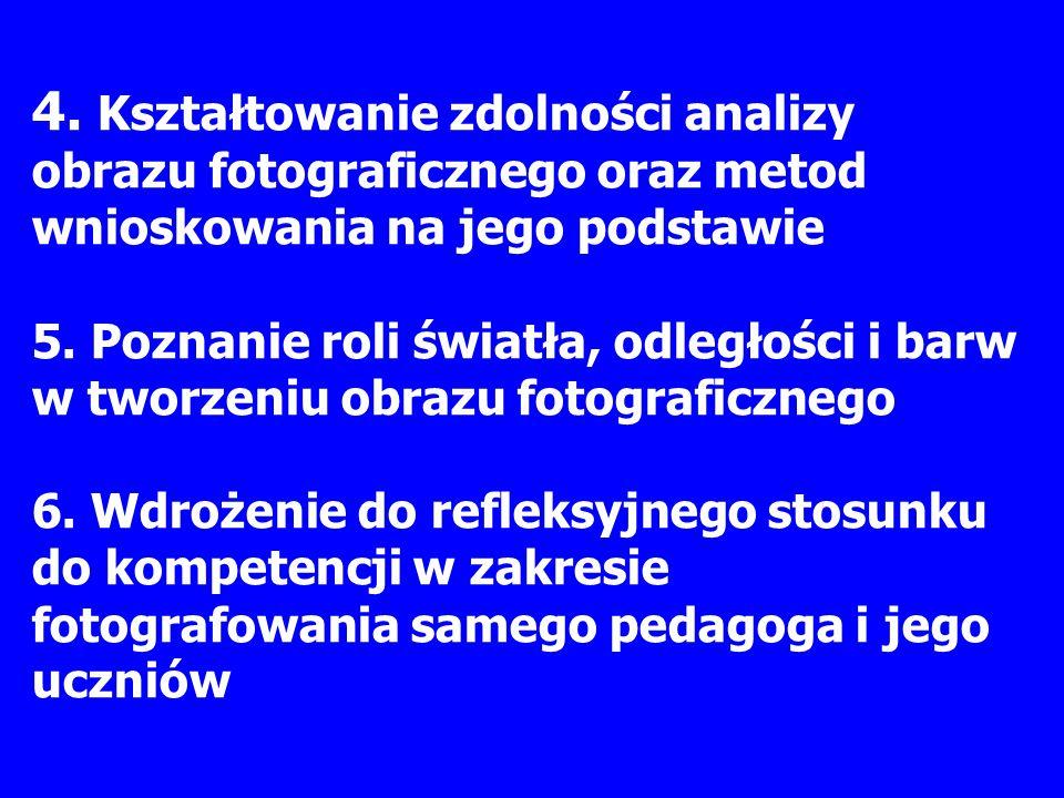4. Kształtowanie zdolności analizy obrazu fotograficznego oraz metod wnioskowania na jego podstawie