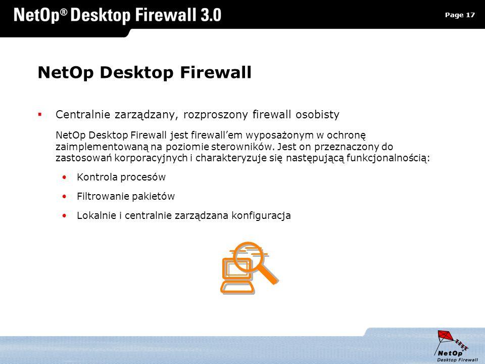 NetOp Desktop Firewall