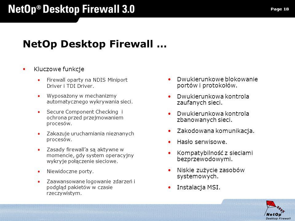 NetOp Desktop Firewall …
