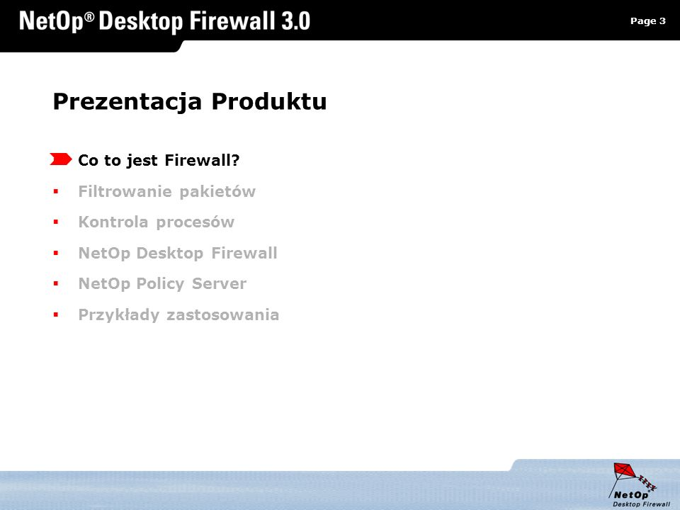 Prezentacja Produktu Co to jest Firewall Filtrowanie pakietów
