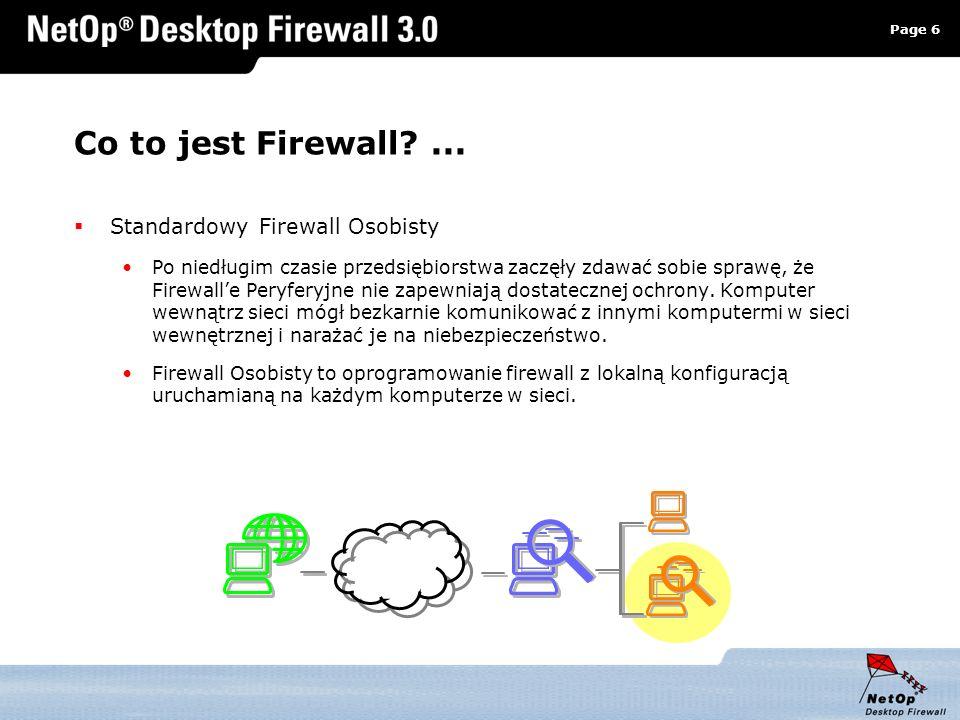 Co to jest Firewall ... Standardowy Firewall Osobisty