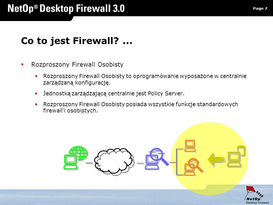 Co to jest Firewall ... Rozproszony Firewall Osobisty