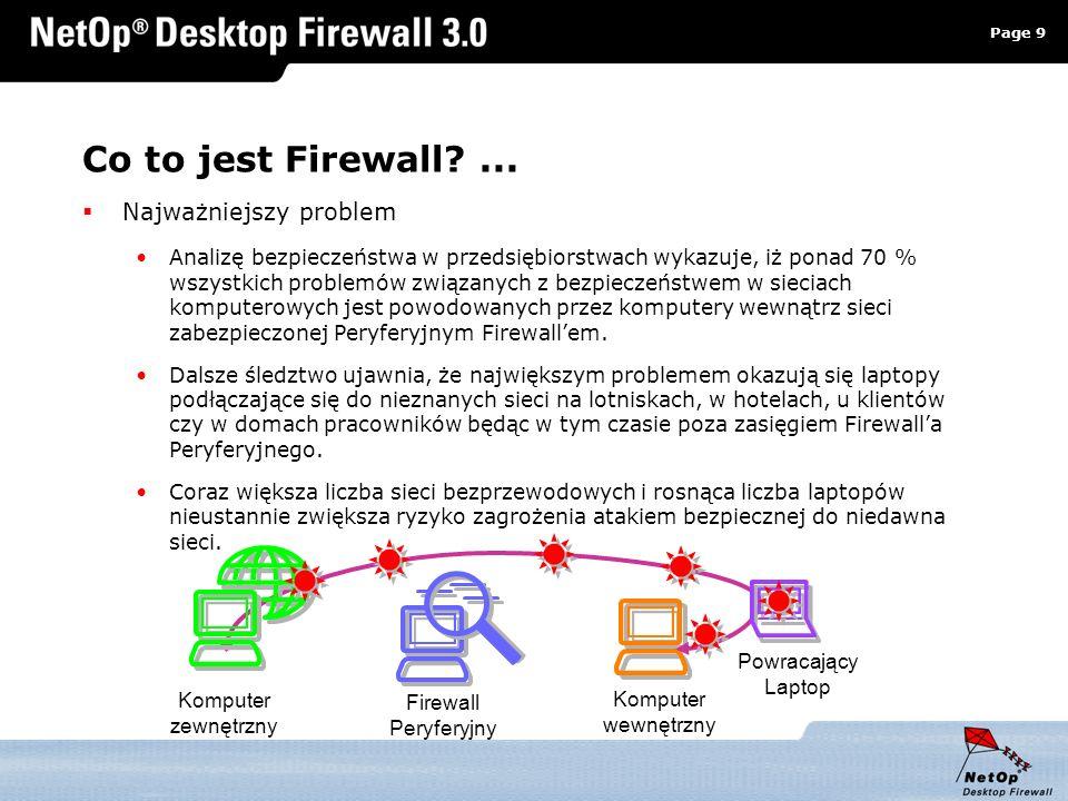 Co to jest Firewall ... Najważniejszy problem