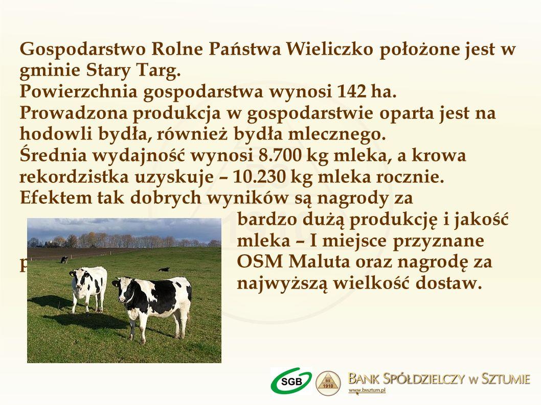 Gospodarstwo Rolne Państwa Wieliczko położone jest w gminie Stary Targ
