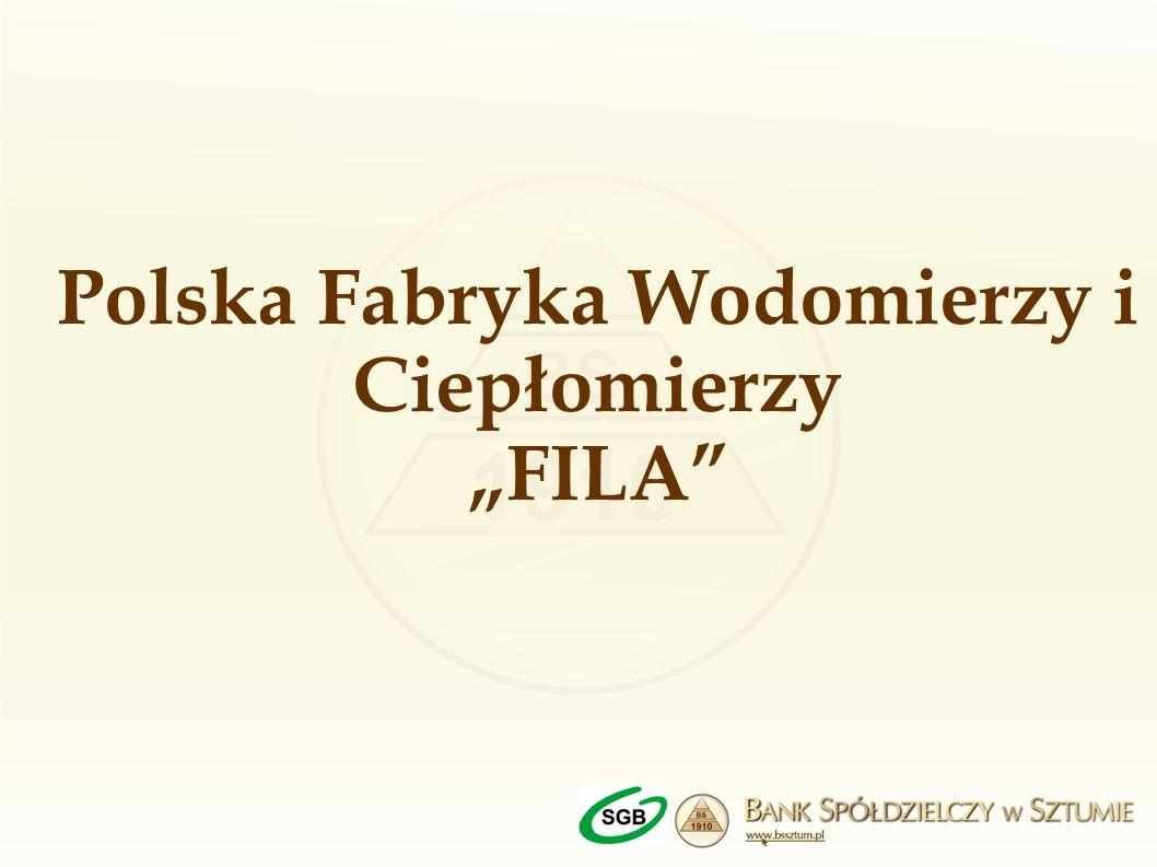 """Polska Fabryka Wodomierzy i Ciepłomierzy """"FILA"""