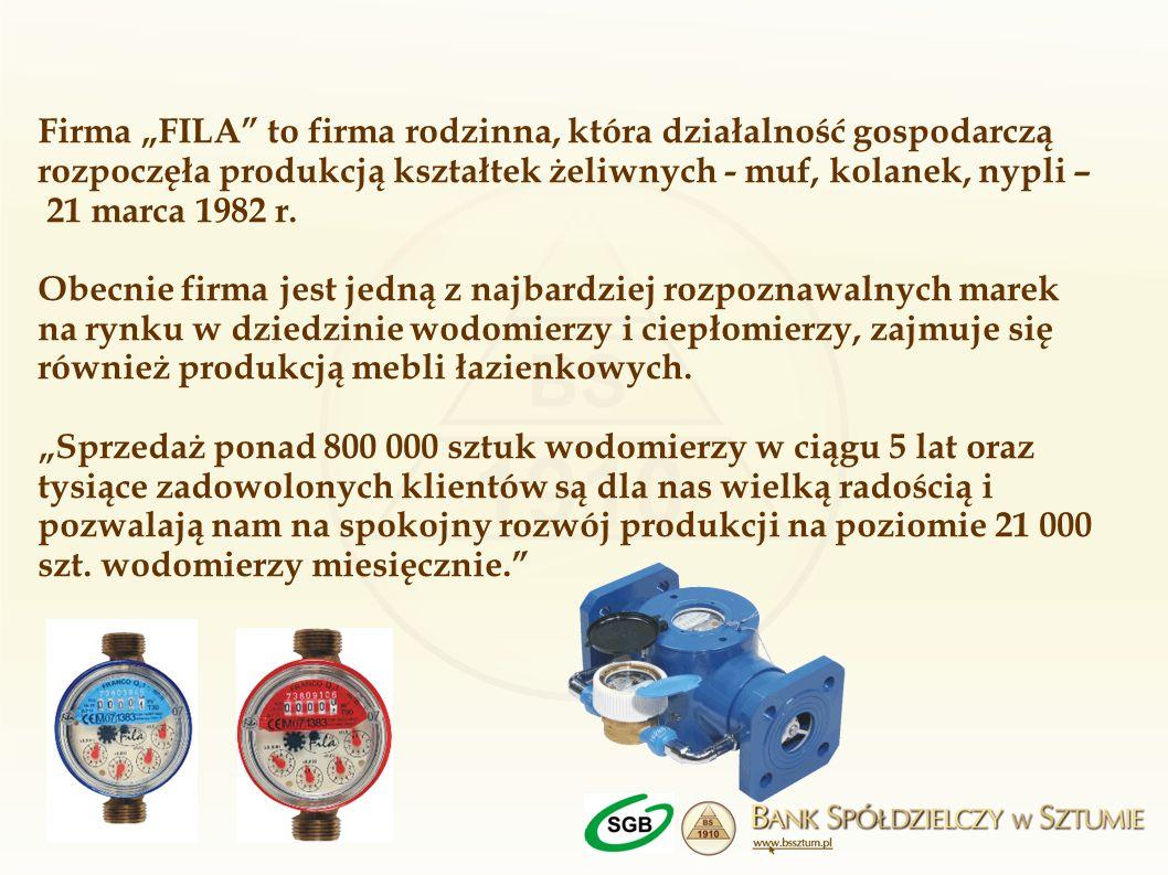 """Firma """"FILA to firma rodzinna, która działalność gospodarczą rozpoczęła produkcją kształtek żeliwnych - muf, kolanek, nypli – 21 marca 1982 r."""