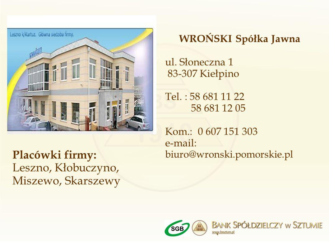 Leszno, Kłobuczyno, Miszewo, Skarszewy