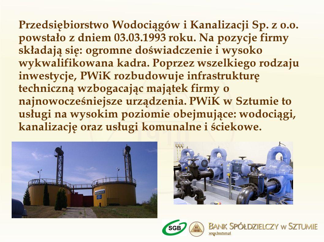 Przedsiębiorstwo Wodociągów i Kanalizacji Sp. z o. o