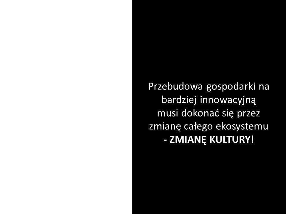 Przebudowa gospodarki na bardziej innowacyjną musi dokonać się przez