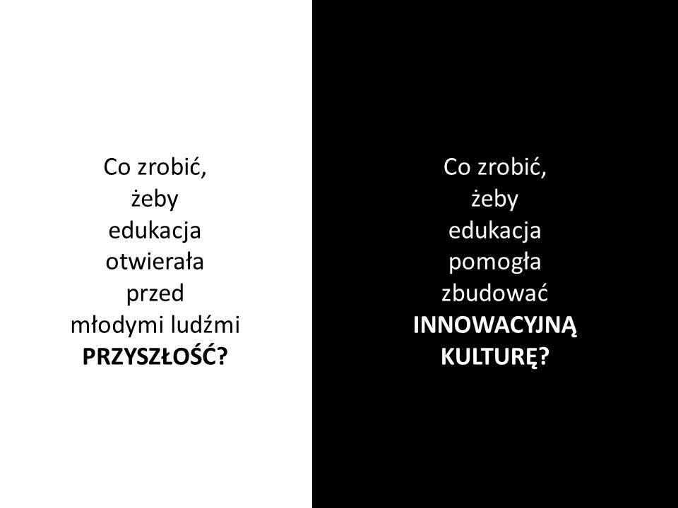 Co zrobić, żeby. edukacja. otwierała. przed. młodymi ludźmi. PRZYSZŁOŚĆ Co zrobić, żeby. edukacja.