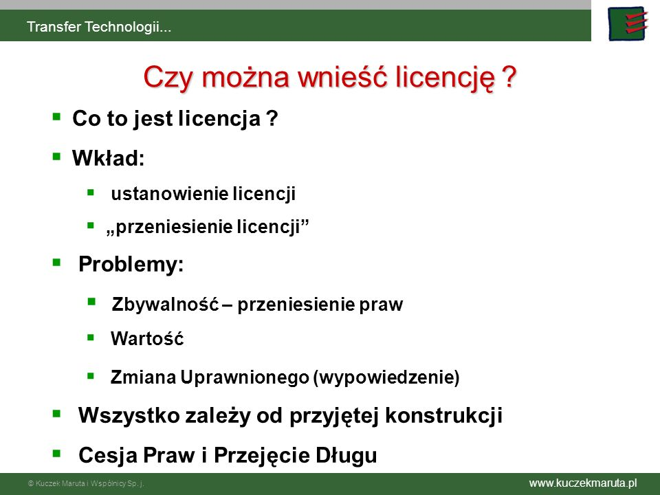 Czy można wnieść licencję