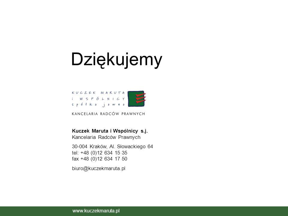 Dziękujemy Kuczek Maruta i Wspólnicy s.j. Kancelaria Radców Prawnych