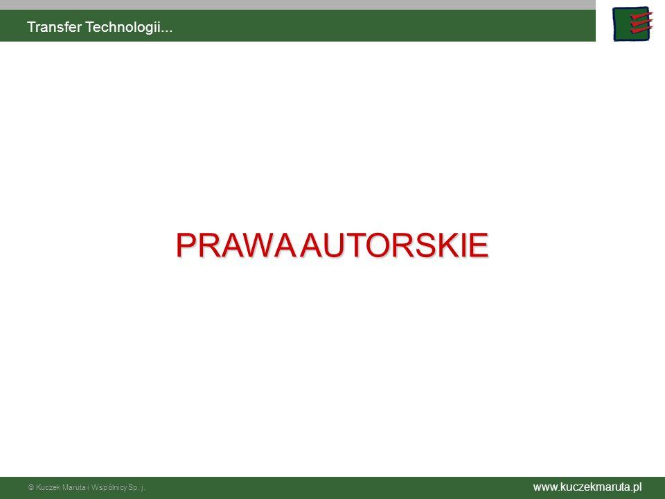 Transfer Technologii... PRAWA AUTORSKIE