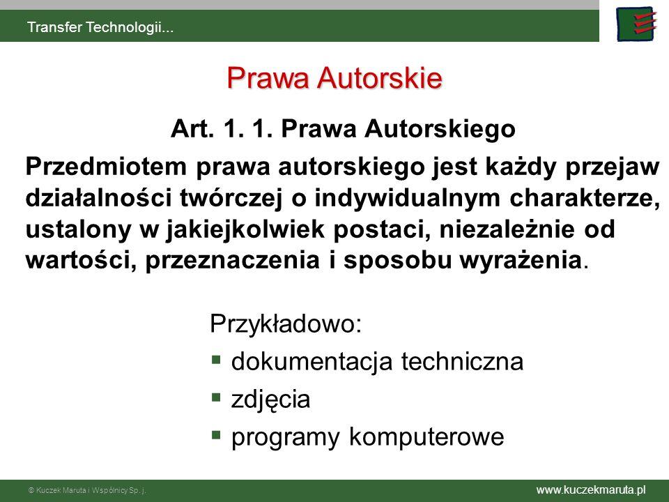 Prawa Autorskie Art. 1. 1. Prawa Autorskiego