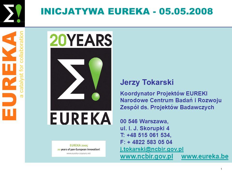 INICJATYWA EUREKA - 05.05.2008 Jerzy Tokarski