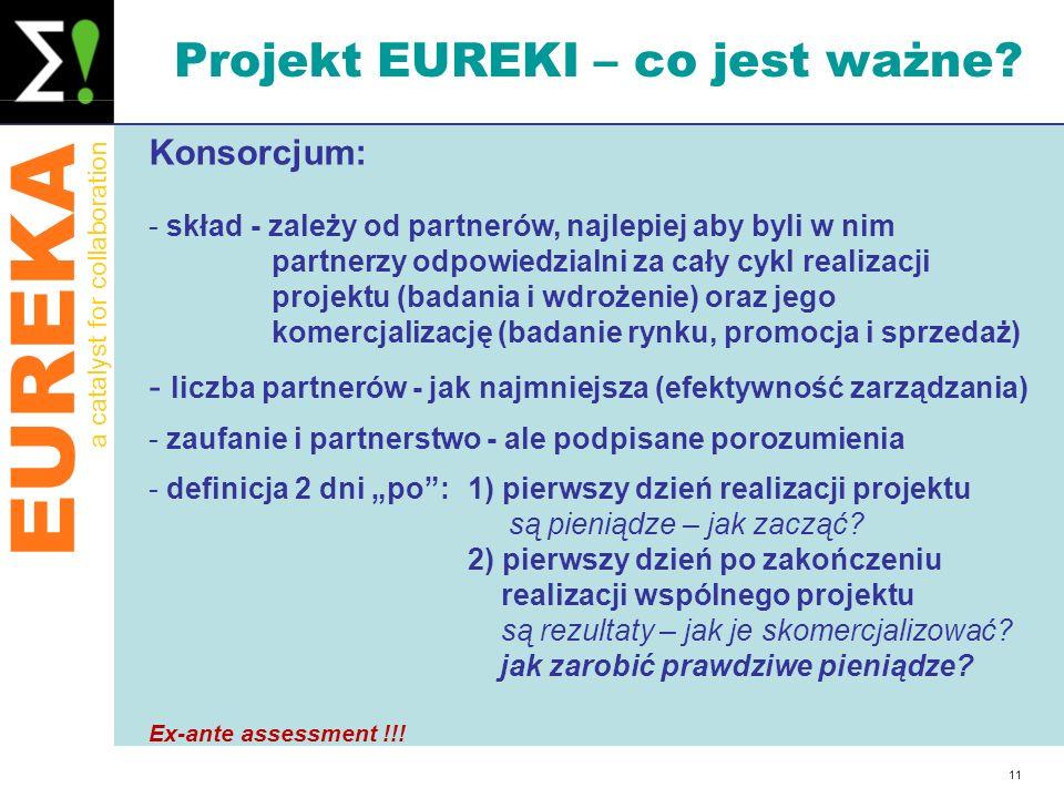 Projekt EUREKI – co jest ważne