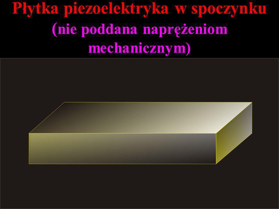 Płytka piezoelektryka w spoczynku (nie poddana naprężeniom mechanicznym)