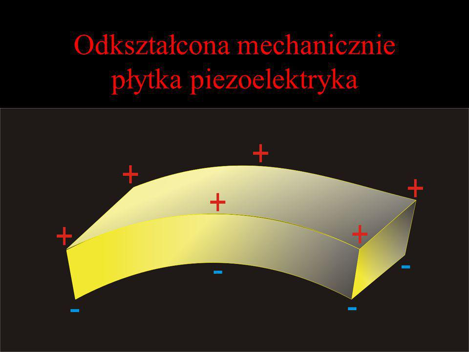 Odkształcona mechanicznie płytka piezoelektryka