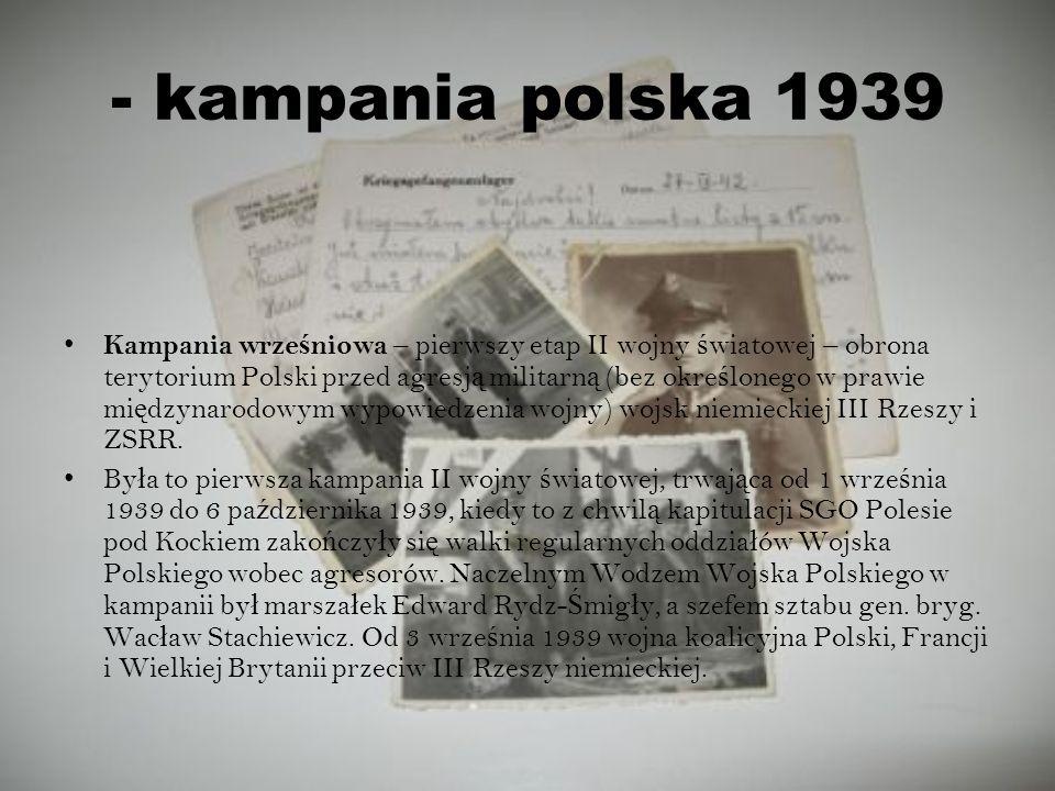 - kampania polska 1939