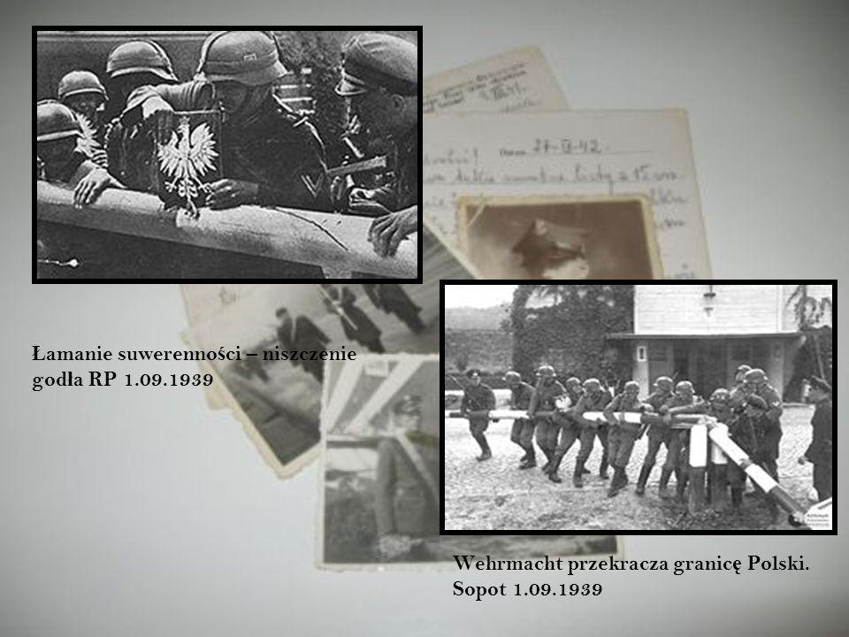 Łamanie suwerenności – niszczenie godła RP 1.09.1939