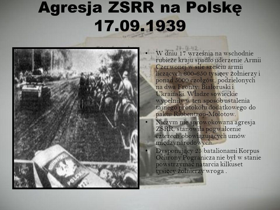Agresja ZSRR na Polskę 17.09.1939