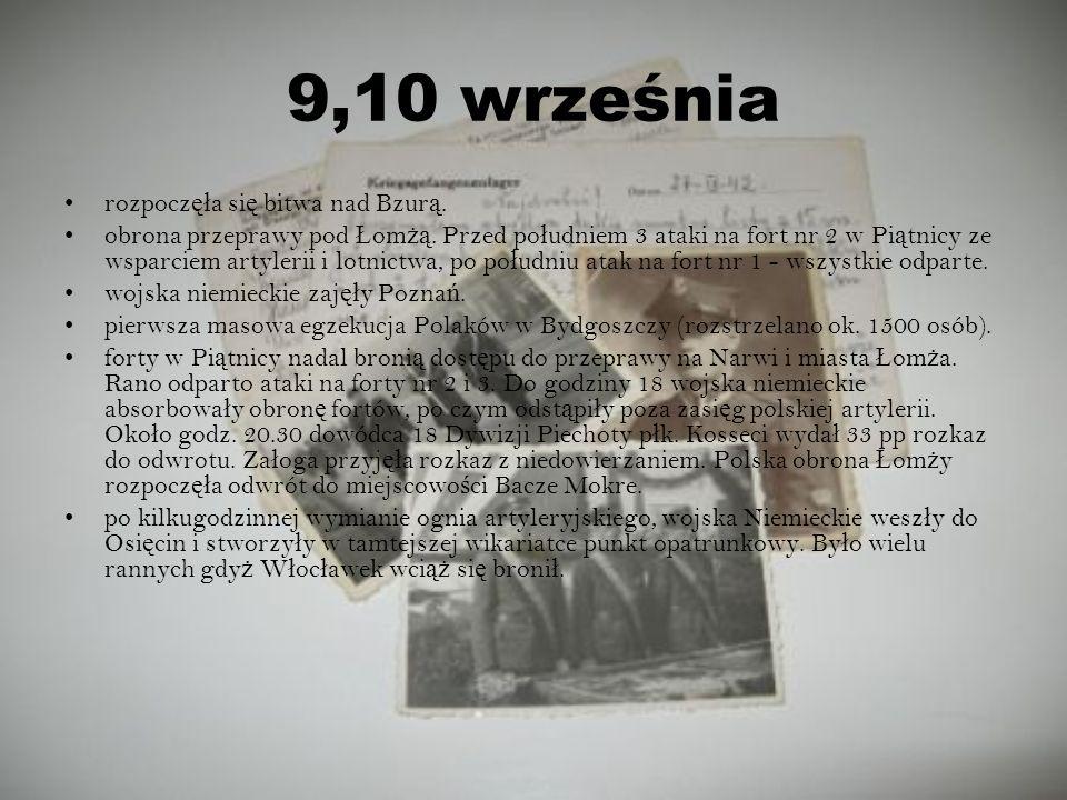 9,10 września rozpoczęła się bitwa nad Bzurą.