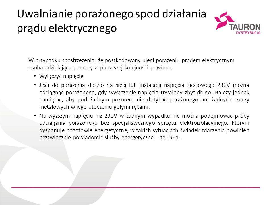 Uwalnianie porażonego spod działania prądu elektrycznego